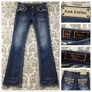 """Rock Revival Jeans size 6 Long Tall x35"""" Sapphire"""